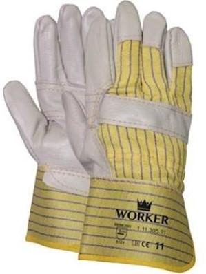 Meubellederen handschoen met palmversterking