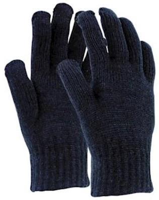 Rondgebreide acryl handschoen