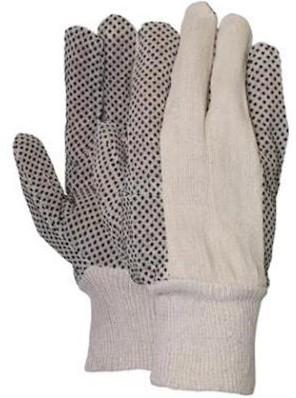 Polkadot handschoen met zwarte PVC nopjes