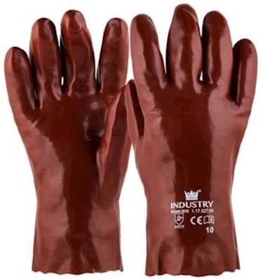 Handschoen PVC rood, 270 mm