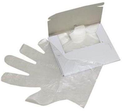 Polyethyleen handschoen, 100 stuks in dispenser