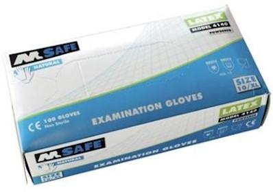 M-Safe 4140 disposable latex handschoen - 8/m
