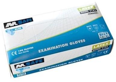 M-Safe 4141 disposable latex handschoen - 7/s