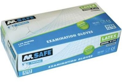 M-Safe 4160 disposable latex handschoen - 9/l