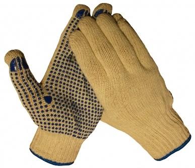 Werkhandschoen katoen antislip nopjes
