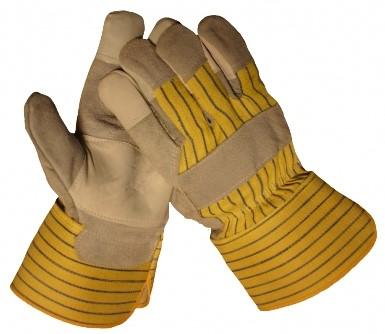Werkhandschoen Splitleder Vingertopversterking