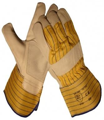 Werkhandschoenen Rund/Boxleder Palmversterkt