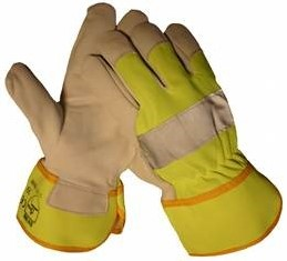 Werkhandschoen Fluoricerend Geel