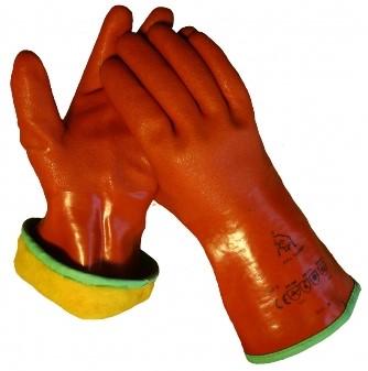 Werkhandschoen PVC Rood 30cm