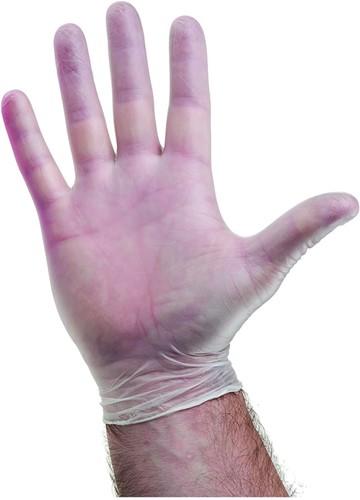 Vinyl handschoenen Naturel Poedervrij - 7/s
