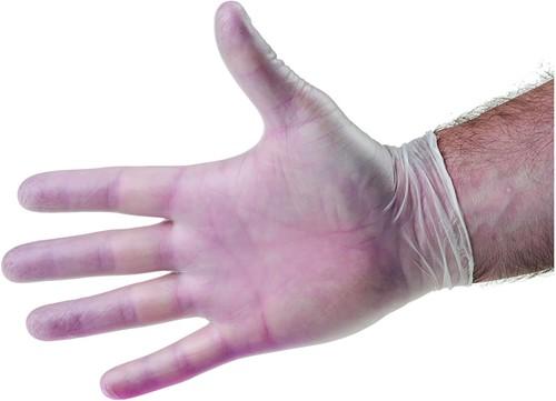 Vinyl handschoenen Naturel Poedervrij - 9/l