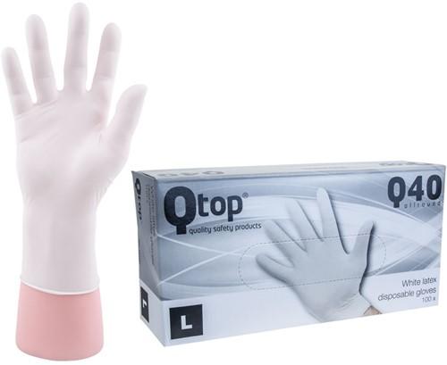 Latex Handschoenen wit poedervrij - 9/l