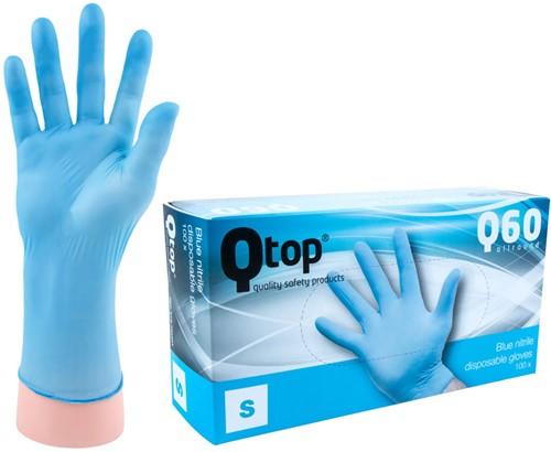 Qtop Q40 Blauwe Nitril Handschoenen - 7/s