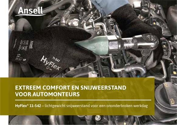 Ansell HyFlex 11-542: Extreem comfort en snijweerstand voor automonteurs