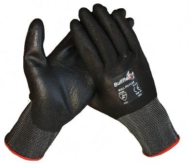 Werkhandschoenen Bull Flex PU zwart - 10/xl